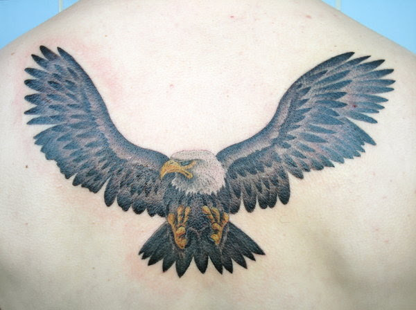 Back Tattoo Design Eagle