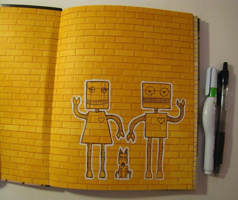 MJ's Sketchbook wall notebook grafitti