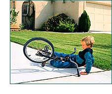 Child fallen from bike