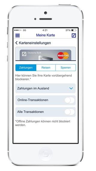 U201emeine Karte Deutsche Bank Agu201c Im App Store Kevin Allein