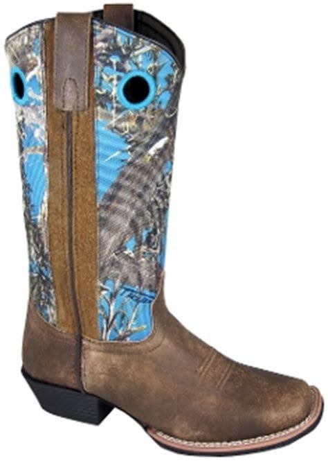 womens square toe true timber blue camo cowboy boots