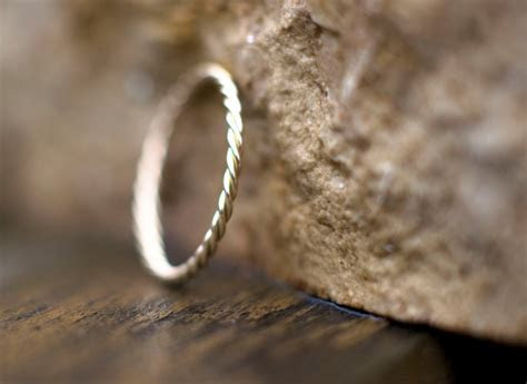 1.2mm gold band, unique wedding ring for her, solid 14k