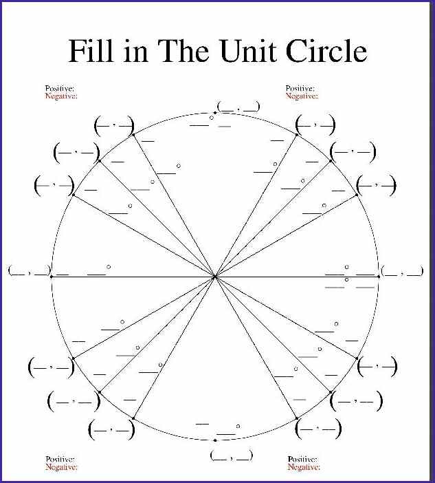 Bestseller: Blank Unit Circle Print Out