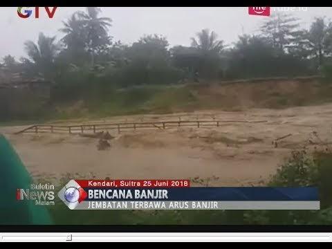 Video Detik-detik Jembatan Terseret Banjir