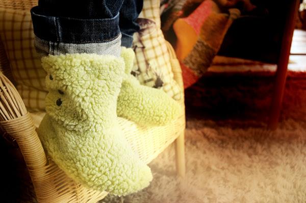 green sweet little boots