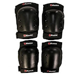 Razor Deluxe Youth Multi-Sport Elbow & Knee Pad Safety Pro Set, Black | 96785 by VM Express
