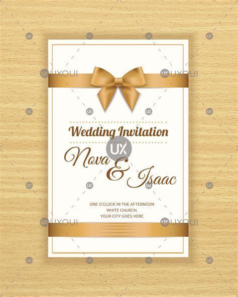 Free retro wedding invitation card template design vector
