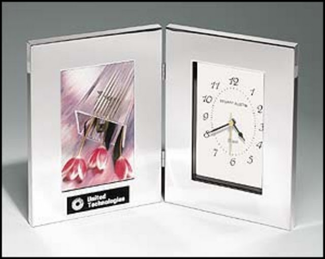 Desk Clock With Photo Frame 6 14x8 14x2