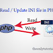 Read and Update Config file (INI File) in PHP - TheOnlyTutorials.com