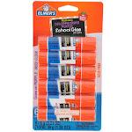 Elmers School Glue Sticks, Washable, Disappearing Purple - 6 pack, 6 g sticks
