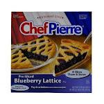 Chef Pierre Pre-Sliced Blueberry Lattice Pie, 34 Ounce - 6 per case.