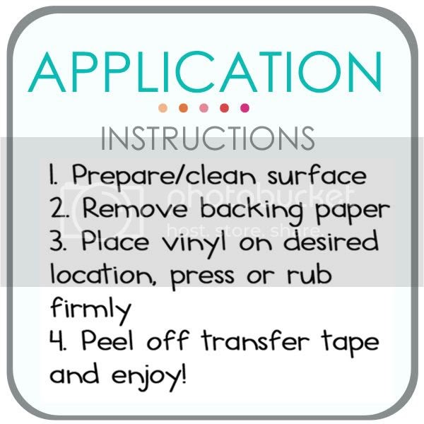 Application Instructions ~ The Letter Cafe Vinyl Lettering
