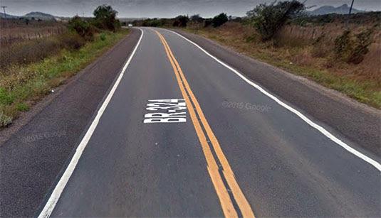 Assalto aconteceu no trecho da BR-324 que liga Tanquinho a Feira de Santana | Foto: Street View/Reprodução