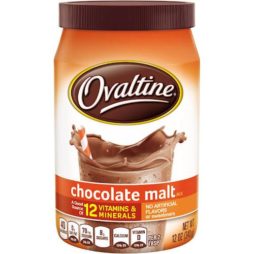 Ovaltine Drink Mix, Chocolate Malt - 12 oz canister