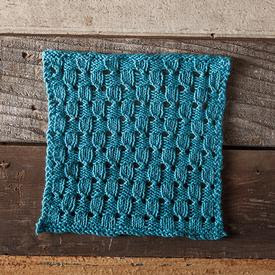 Checks and Eyelets Facecloth Free Knitting Pattern