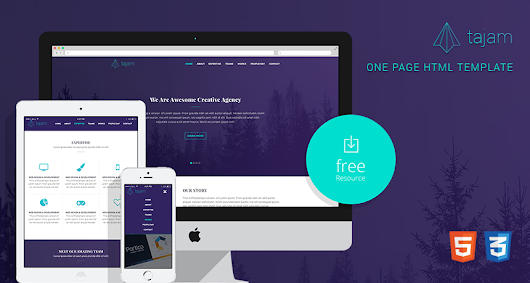Tajam – Free One Page HTML Template | Free Templates