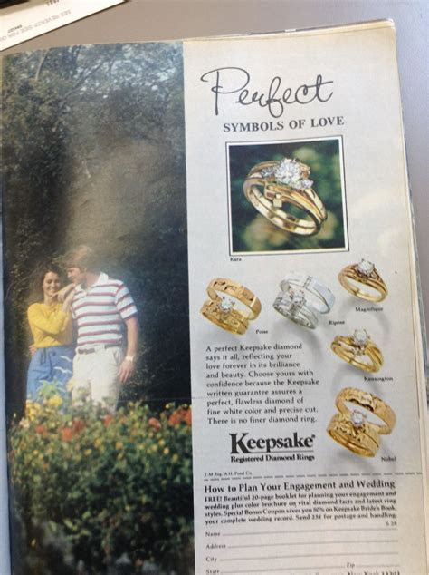 Keepsake engagement ring ad from 1978 Seventeen magazine