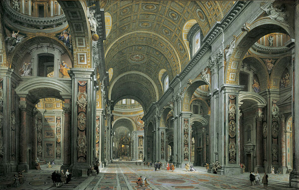 File:Giovanni Paolo Panini - Interior of St. Peter's, Rome.jpg