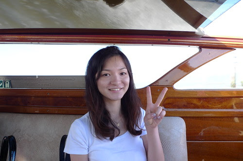 Maiko in the water taxi