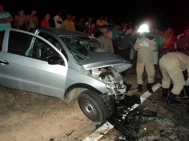 Acidente na BR-405 deixa quatro mortos (Foto: Marcelino Neto)