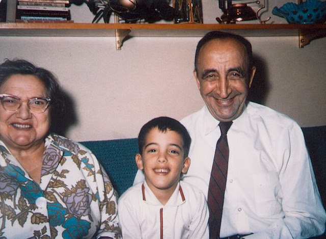 With my Grandparents