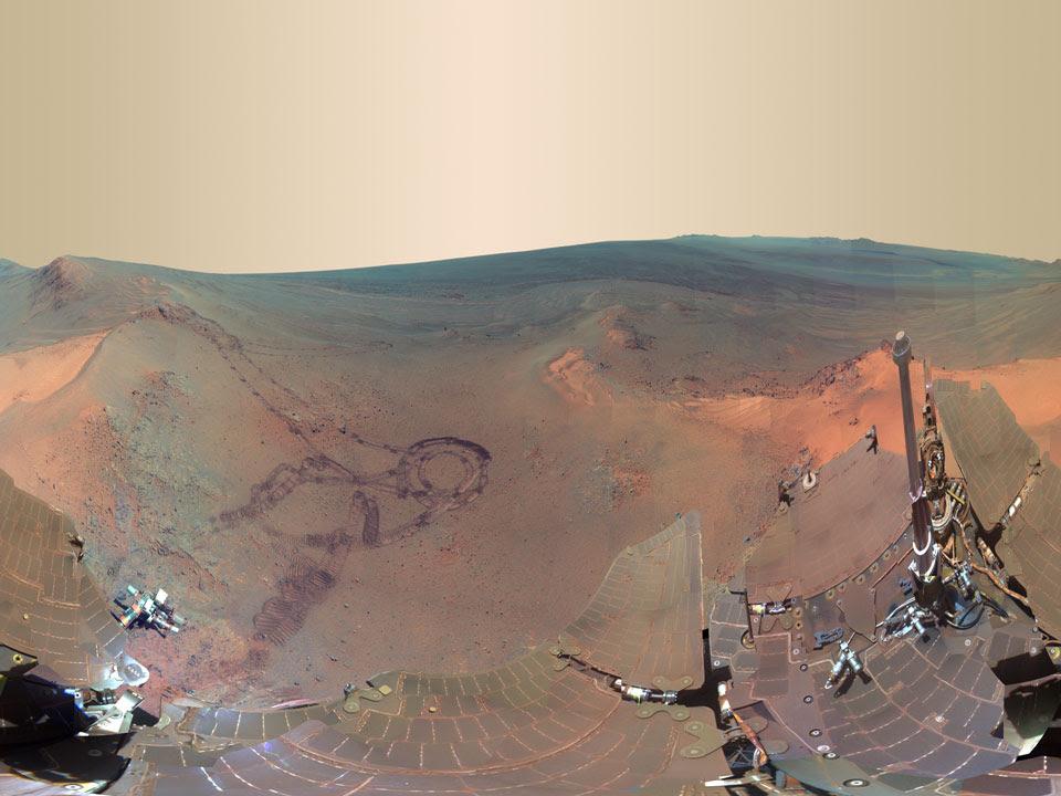 Panorama Musim dingin di Planet Mars