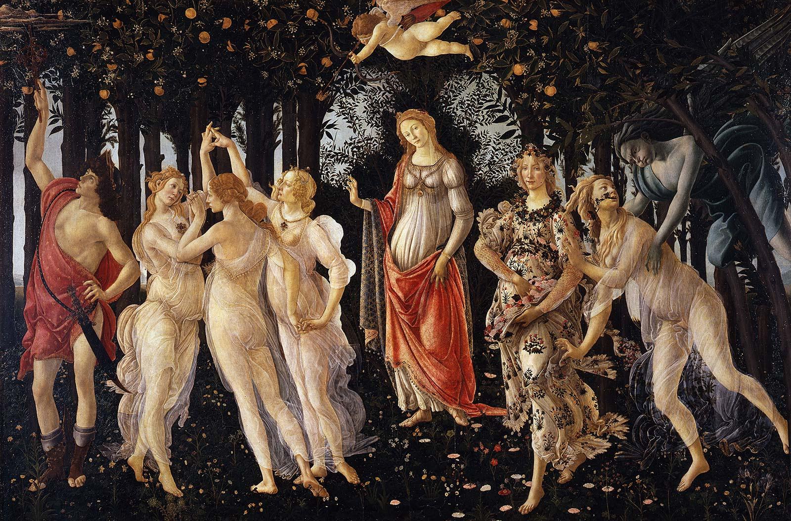 Resultado de imagen para botticelli la primavera