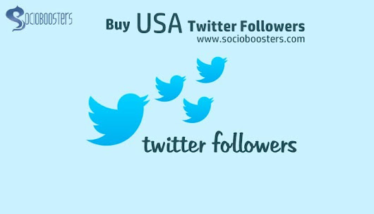 Buy Real USA twitter Followers - SocioBoosters
