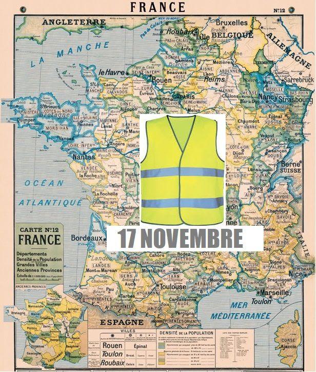 Blocage Du 17 Novembre La Carte Officielle Des