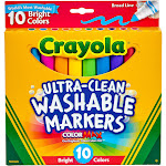 Crayola Ultra-Clean - Marker - assorted classic colors - broad - pack of 10