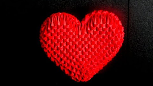 3D Origami Small Heart Tutorial