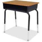 Lorell LLR99893 Book Box Student Desk Medium Oak