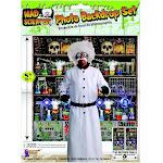 Halloween Back Drop Mad Scientist Themed Decor Photo Prop Fun Laboratory Scene