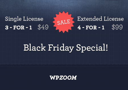 Save BIG on WPZOOM Themes on Black Friday & Cyber Monday - WPZOOM