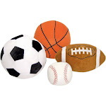 Melissa & Doug 4-Piece Sports Throw Pillow Set Multi