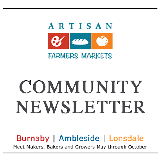 Newsletter Archive - Artisan Farmer Markets