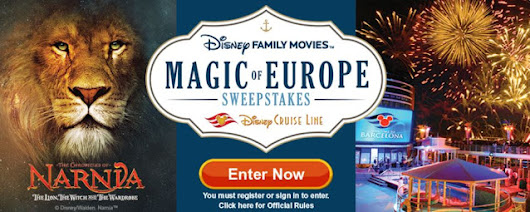 Disney Family Movies Magic of Europe Sweepstakes on the Disney Cruise Line
