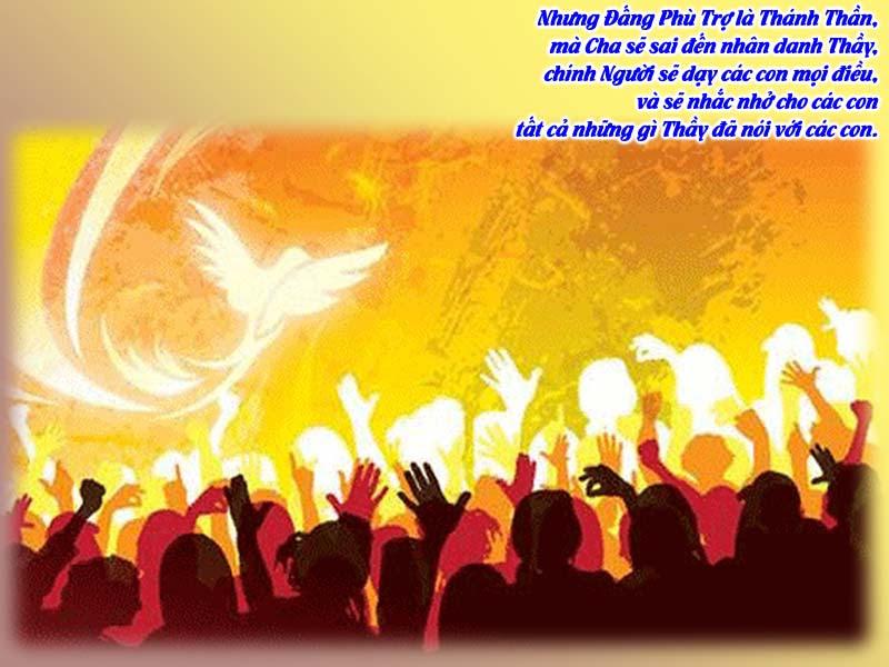 Chúa Thánh Thần hiện xuống - Đấng bảo trợ - Lễ Ngũ Tuần