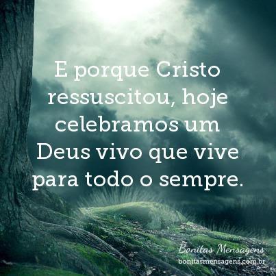 E Porque Cristo Ressuscitou Hoje Celebramos Um Deus Vivo Que Vive