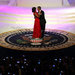 President Obama danced with Mrs. Obama, in a custom Jason Wu ruby chiffon and velvet gown.