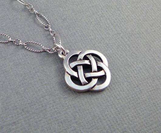 Celtic Knot Necklace Irish Jewelry Silver Necklace for