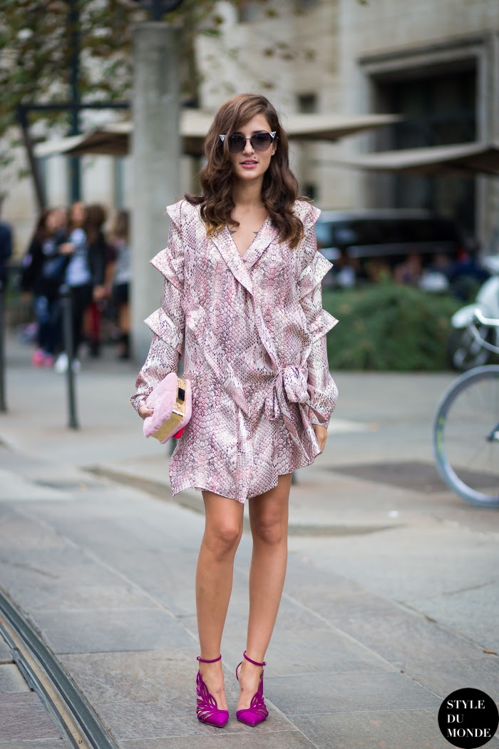 Eleonora Carisi Street Style Street Fashion Streetsnaps by STYLEDUMONDE Street Style Fashion Blog