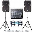 Equipment For Hire - PA System Hire - Speed Music