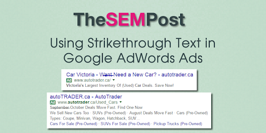 Using Strikethrough Text on Google AdWords Ads