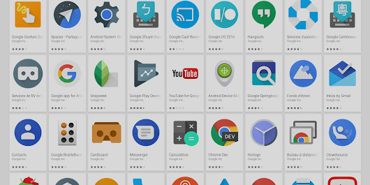 Les applications mobiles méconnues de Google