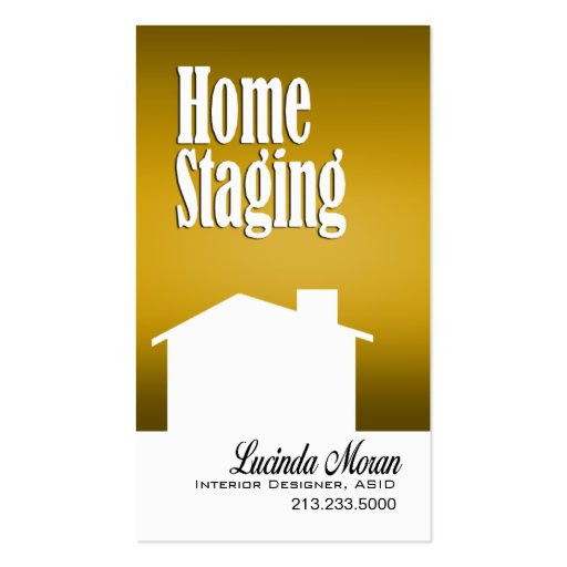 Home Staging Interior Designer Design Consultant Business Card