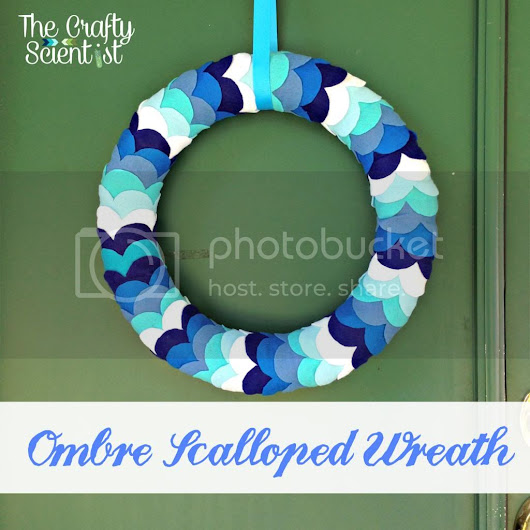 Ombre Scalloped Wreath