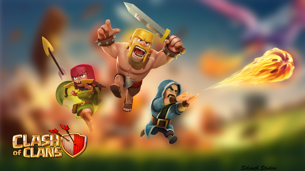 Clash of Clans [CoC] BackGround ALT 1920x1080 by Selcouth