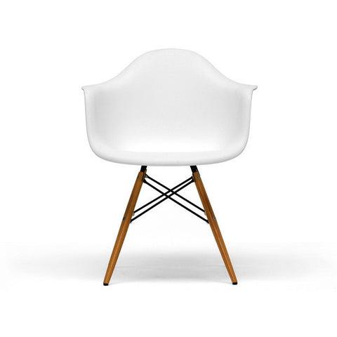 White Pascal White Shell Chairs Set/2