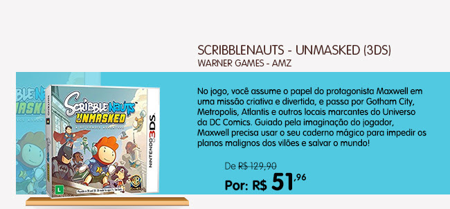 SCRIBBLENAUTS - UNMASKED (3DS)
